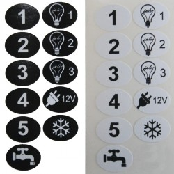 Etiquettes tableau électrique camping-car