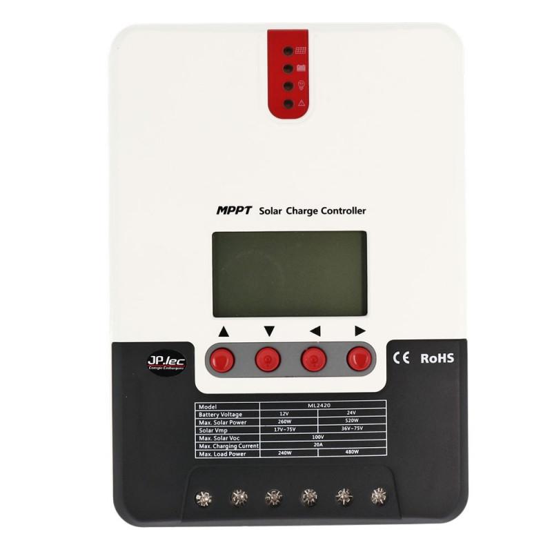 Régulateur MPPT 20A 12/24V série SRNE