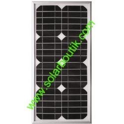 Panneau solaire 25w 12v monocristallin