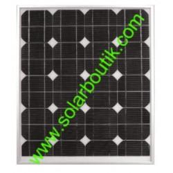 Panneau solaire 50w 12v monocristallin