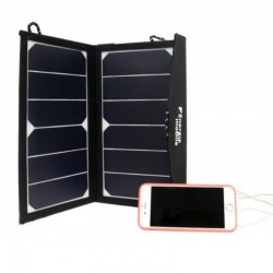 CHARGEUR SOLAIRE USB PLIABLE 12W BACK CONTACT