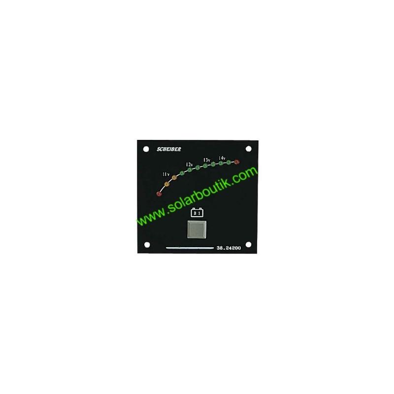 Voltmetre 12V 1 Batterie LED Gamme Visu SCHEIBER