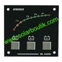 Voltmetre 12V 3 Batteries LED Gamme Visu SCHEIBER