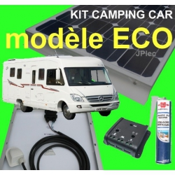 Kit camping-car complet 120w MONOCRISTALLIN Gamme ECO