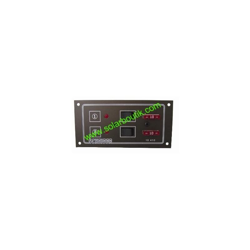 Tableau 12/24v 2 circuits à fusibles Scheiber 38.10410.21