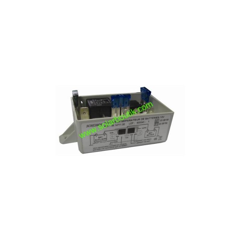 Séparateur de batterie 70A 300Ah 12v 3 départs SCHEIBER