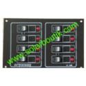 Tableau 12/24v 8 circuits disjoncteurs Scheiber 38.10428.02