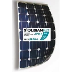 Panneau solaire SOUPLE 80w SOLBIAN, Adhésif, sortie arrière SL80L.W