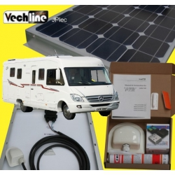 PANNEAU SOLAIRE CAMPING-CAR 100 Watts Vech Line