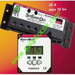 Régulateur deux batteries 12v 25A
