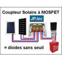 Boitier couplage solaire sans seuil 2 x 140w