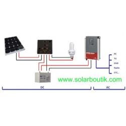 Kit site isolé 12v 200w ( kit solaire monocristallin)