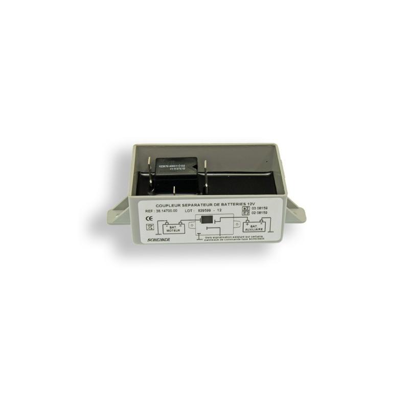 Coupleur 2ème batterie Auxiliaire 70A 300Ah 12v SCHEIBER