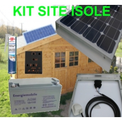 Kit solaire 100 watts 12 volts site isolé