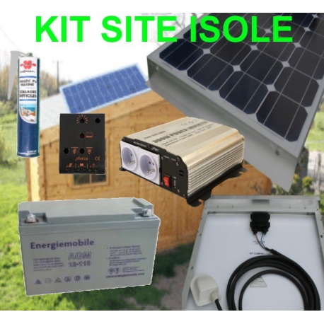 Kit solaire 100 watts 230 volts site isolé