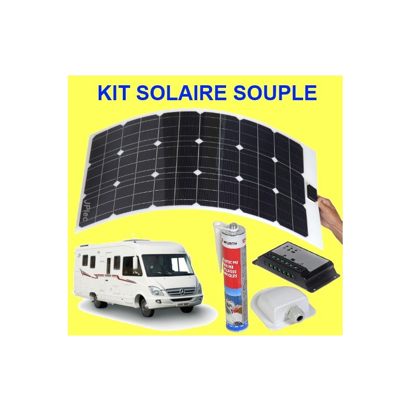kit solaire souple 80 w camping car. Black Bedroom Furniture Sets. Home Design Ideas