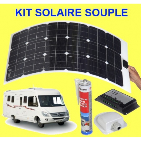 kit solaire souple 120 w camping car. Black Bedroom Furniture Sets. Home Design Ideas
