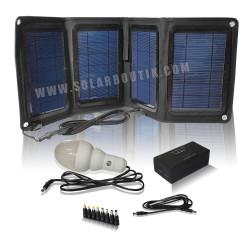 Kit solaire pliable 12v 20w Lithium pour PC, Eclairage...
