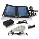 Kit solaire pliable 12v 10w Lithium pour PC, Eclairage ...