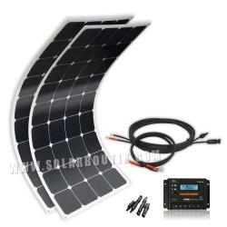 Kit solaire bateau électrique 200W 12V souple Back Contact Cellule Sunpower