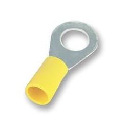 COSSE A SERTIR JAUNE OEILLET 5mm FIL 6mm² par 5 pièces