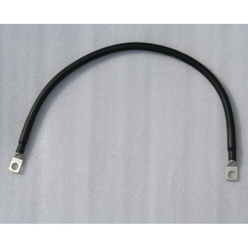 Câble batterie 25 mm² Noirs avec cosses 50cm