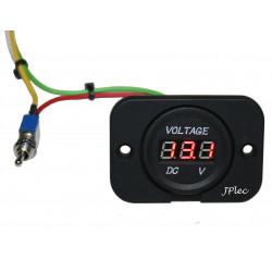 Voltmetre 12V / 24V 2 Batteries pour Bateau et Camping car