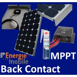 Kit camping-car complet 120w Back Contact et MPPT