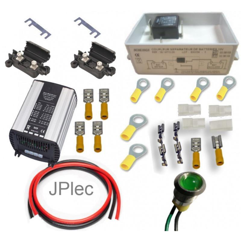 kit coupleur batterie moteur 24v auxiliaire 12v