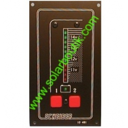 Voltmetre 12V 2 Batteries LED SCHEIBER 38.10481.00