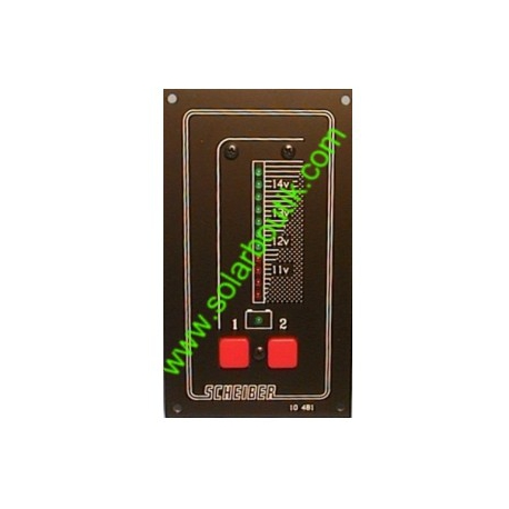 Voltmetre 24V 2 Batteries LED SCHEIBER 38.10481.60