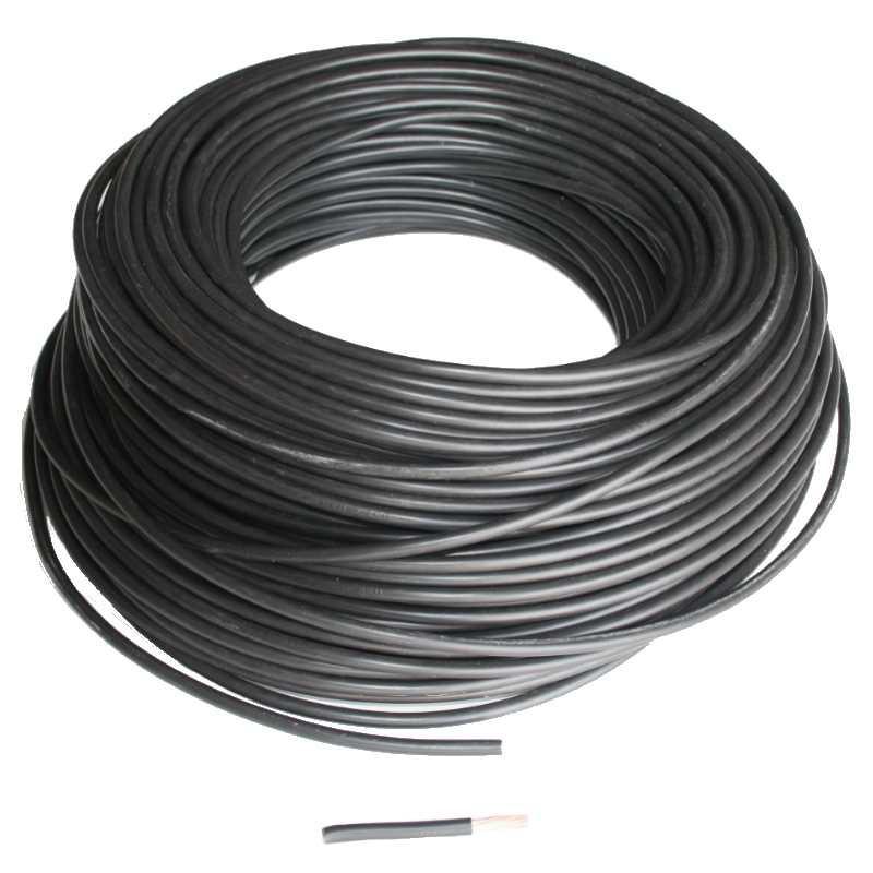 Fil 6mm² souple H07VK Noir