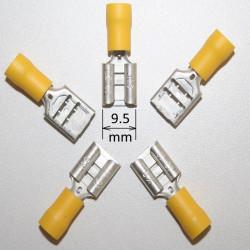 COSSE A SERTIR 9.5mm jaune FIL 6mm² par 5 pièces