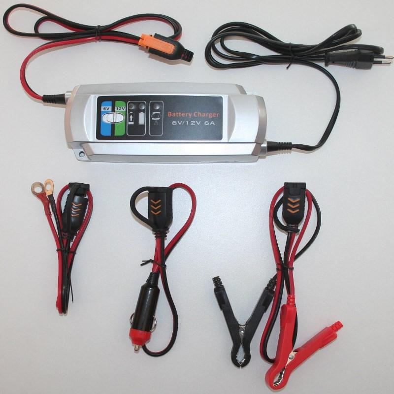 Chargeur de batterie automatique 6V / 12V 6A