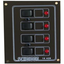 Tableau 12/24v 4 circuits avec disjoncteurs Scheiber 38.10426.02