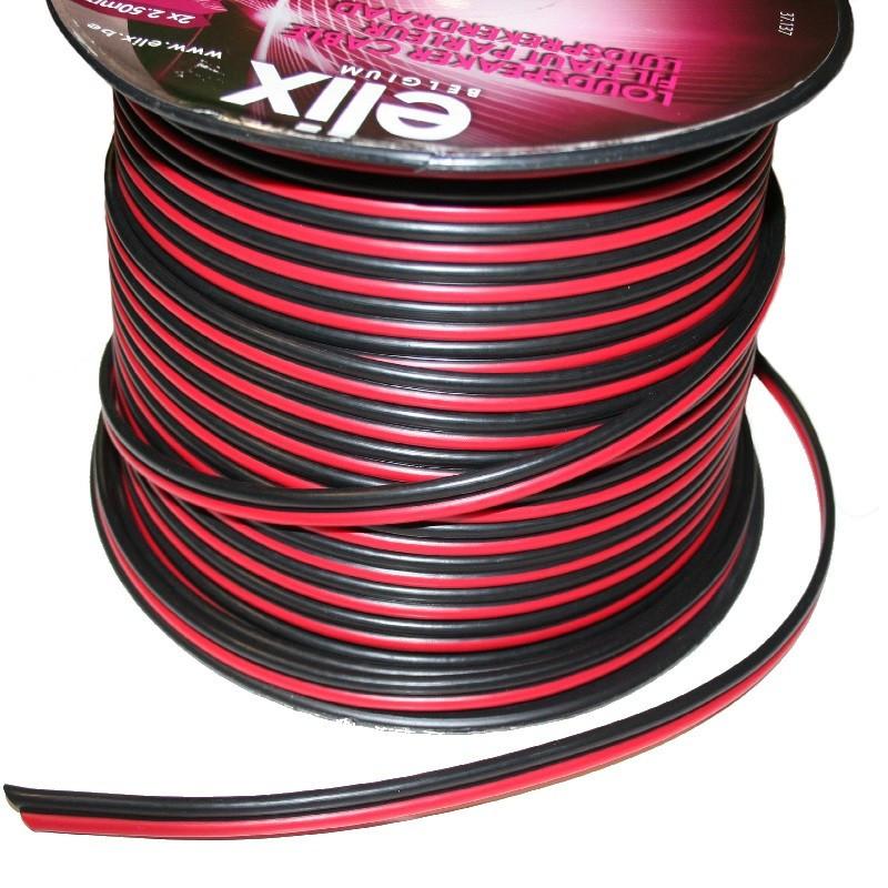 Câble 2x2.5mm² Rouge Noir