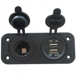 Prise USB avec prise 12V