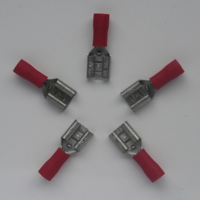 cosse a sertir rouge fil 0 5 1mm par 5 pi ces. Black Bedroom Furniture Sets. Home Design Ideas