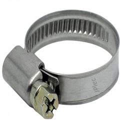 Collier inox 12-22 pour tuyau souple