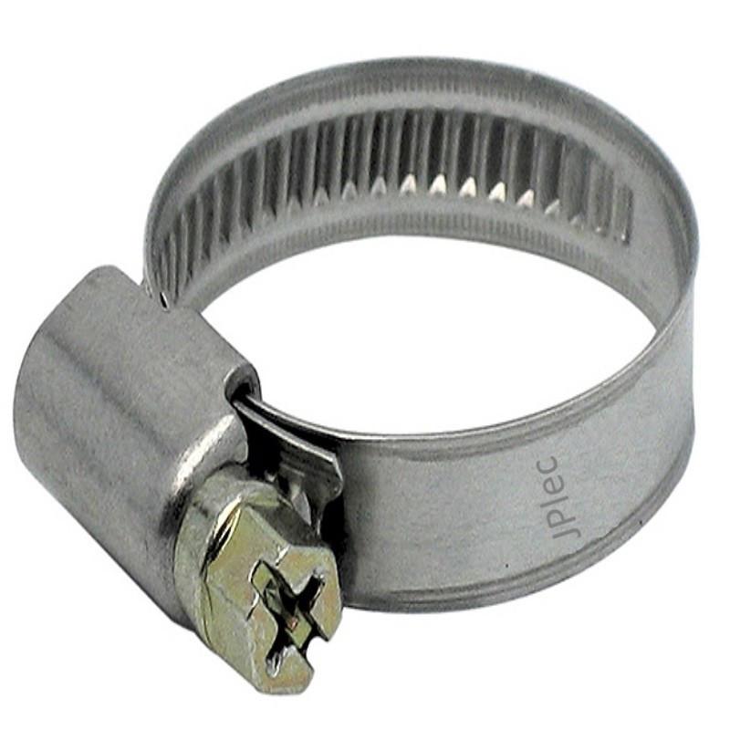 Collier inox 8-16 pour tuyau souple