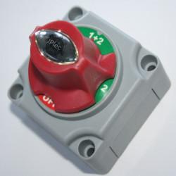 Sélecteur de batterie OFF, B1, B2, B1+B2, 250 ampères