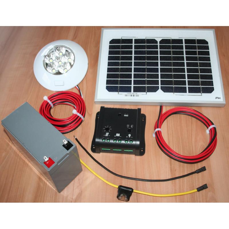 Kit éclairage solaire 6W