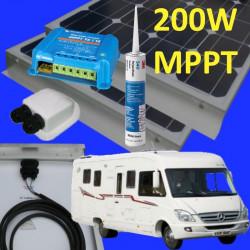 Kit solaire 200 watts MPPT Panneaux 2 x 100W