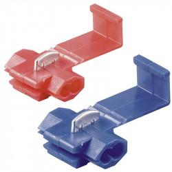 Connecteur de raccordement rapide Bleu ou Rouge (5 pièces)