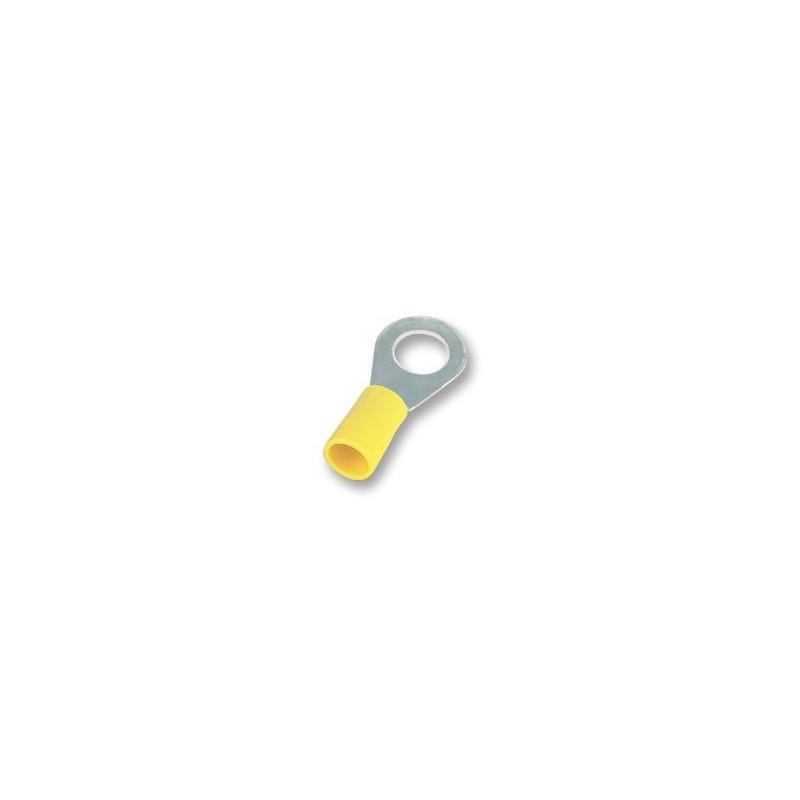 COSSE A SERTIR JAUNE OEILLET 10mm FIL 6mm² par 5 pièces