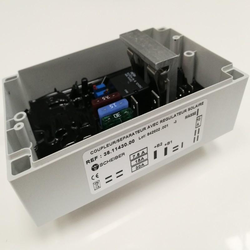 Coupleur séparateur de batterie avec régulateur solaire 38.11430.00 Rapido