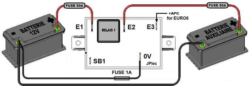 coupleur s parateur 50a relais 70a 300ah 12v option euro6 scheiber. Black Bedroom Furniture Sets. Home Design Ideas