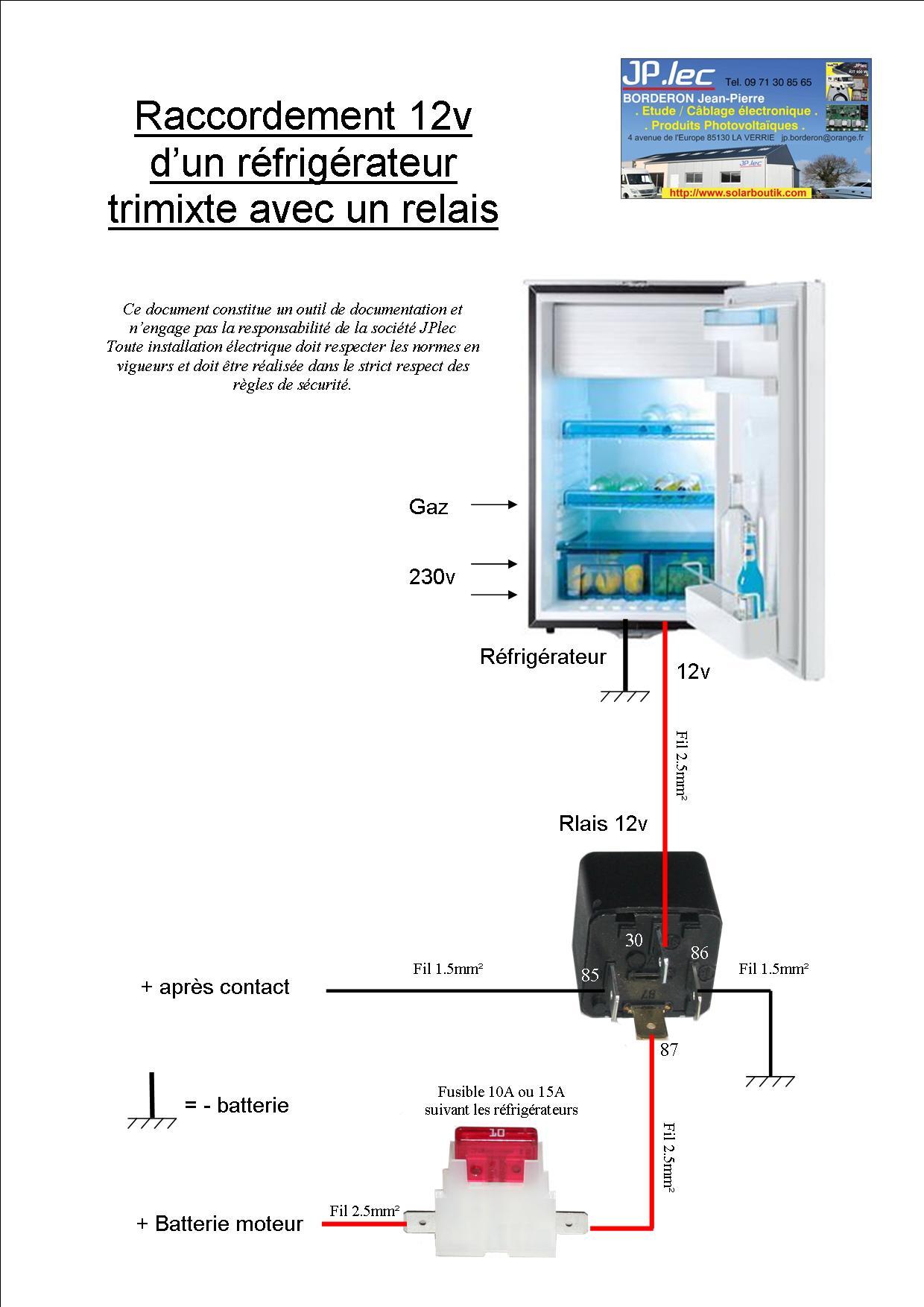 kit relais frigo. Black Bedroom Furniture Sets. Home Design Ideas